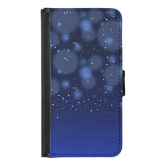 Bokeh Blue Abstract Starry Sky