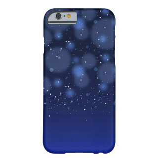 Bokeh Blue Abstract Starry Sky Barely There iPhone 6 Case