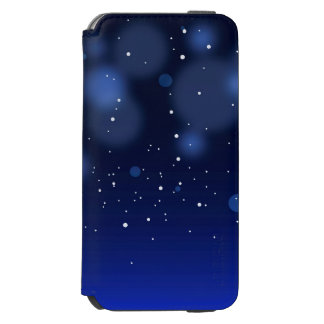 Bokeh Blue Abstract Starry Sky Incipio Watson™ iPhone 6 Wallet Case