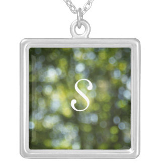 Bokeh In Spring Silver Plated Necklace