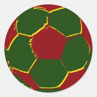 Bola por fãs de portugal classic round sticker