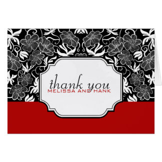 Bold and Beautiful Thank You Photo Notecard
