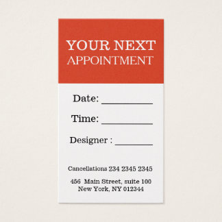 Bold Appointment Fiesta Festive Red Counseling Business Card