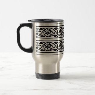 Bold Black and White Damask Mugs