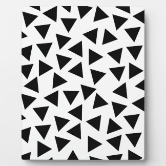 Bold Black and White Triangle Print Plaque