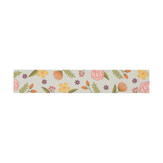 Bold Bright Colorful Floral Wedding Belly Band Invitation Belly Band