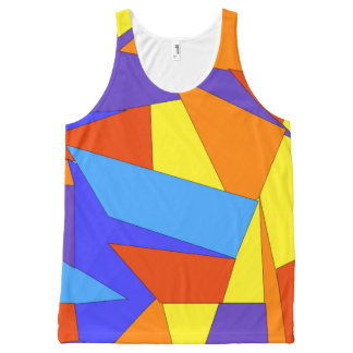 Bold Colorful Abstract Print Unisex Tank Top