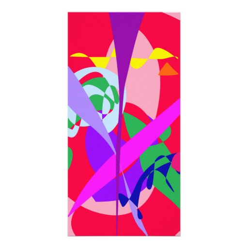 Bold Colors Abstract Art Red Picture Card