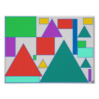 Bold coloured abstract design poster