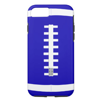 Bold Custom Team Colour & Letters Football Player iPhone 7 Case