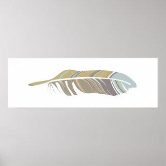 Bold Feather Neutral Art Print Wall Decor
