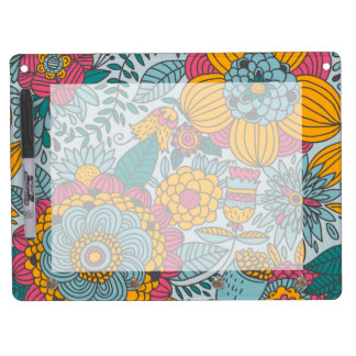 Bold Floral and Vines Dry-Erase Whiteboards