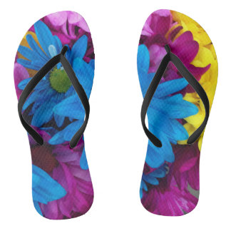 Bold Flower Flip Flops Thongs