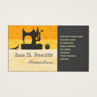 Bold Gold Artist Crafter Sewing Machine Customized Business Card