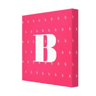 Bold Hot Pink Monogram Canvas Print