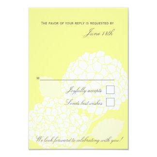Bold Hydrangea RSVP card 9 Cm X 13 Cm Invitation Card