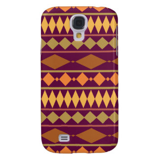 Bold Magenta Rust Tribal Geometric Pattern Galaxy S4 Case