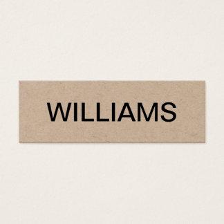 Bold minimalist modern business card