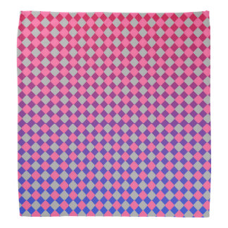 bold pink grey red and blue diamonds pattern kerchief