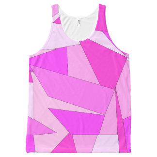 Bold Prink Abstract Print Unisex Tank Top