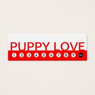 bold PUPPY LOVE customer loyalty Mini Business Card