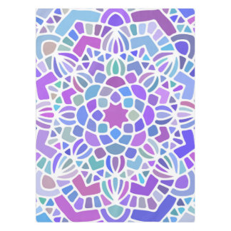 Bold purple blue mandala table cloth