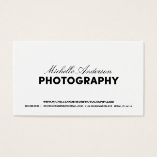 BOLD & SCRIPT   PHOTOGRAPHY BUSINESS CARD