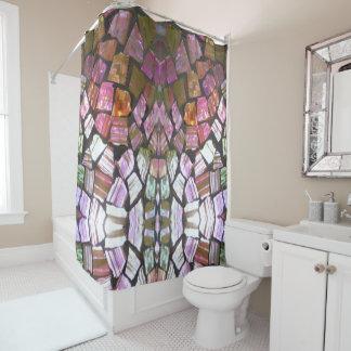 Bold & Striking Glass Mosaic Shower Curtain