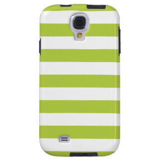 Bold Stripes Galaxy S4 Case in Tender Shoots Green