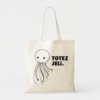 """Bold Tote Bag - """"TOTEZ JELi"""" Jellyfish Design"""