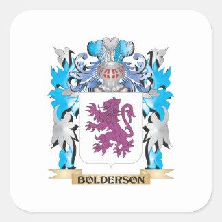 Bolderson Coat of Arms Square Sticker