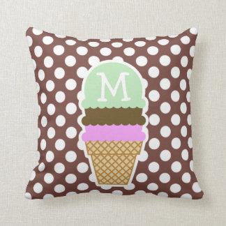 Bole Brown Polka Dots; Ice Cream Cushion
