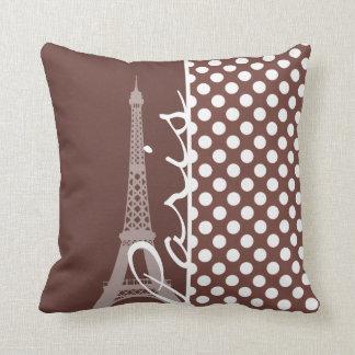 Bole Brown Polka Dots; Paris Throw Cushions