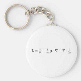 Boltzmann equation, black basic round button key ring