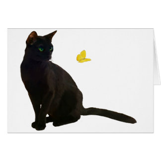 Bombay Cat & Butterfly Card