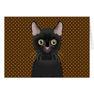 Bombay Cat Cartoon Paws Card