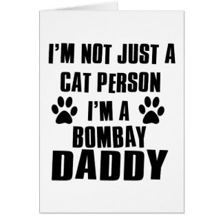 Bombay shirts cat Designs Card