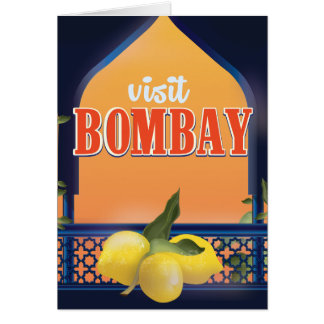 Bombay Vintage Travel Print. Card