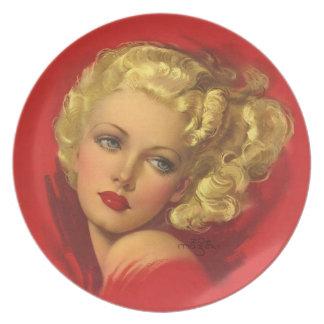 BOMBSHELL BAD GIRLS Retro Pin-Ups Plates