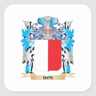 Bon Coat of Arms Square Sticker