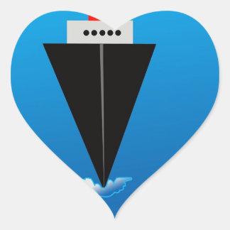 Bon Voyage Heart Sticker
