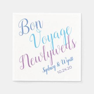 Bon Voyage Newlyweds Personalised Party Napkins Paper Napkin
