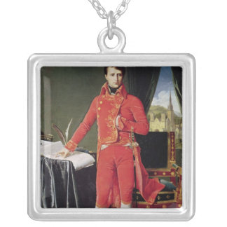 Bonaparte as First Consul, 1804 Silver Plated Necklace