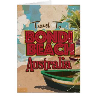 Bondi Beach Australia Vintage vacation Poster Card