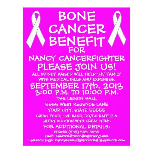 Bone Cancer Benefit Flyer