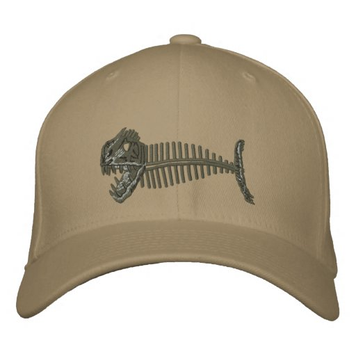 Bone Fish Hat Embroidered Hat
