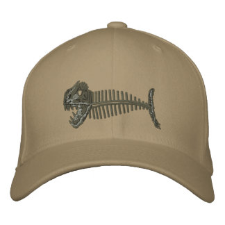 Bone Fish Hat Embroidered Hats