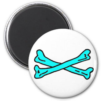 Bones Cyan The MUSEUM Zazzle Gifts Refrigerator Magnets