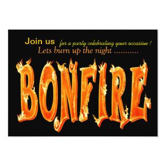Bonfire party invitations