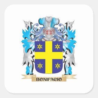 Bonifacio Coat of Arms Square Stickers